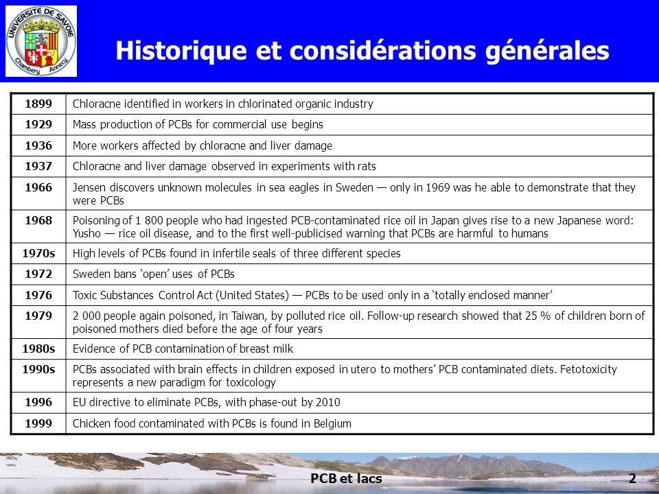 Historique et considérations générales