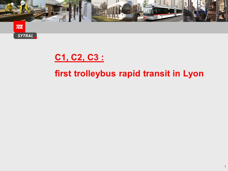 first trolleybus rapid transit in Lyon