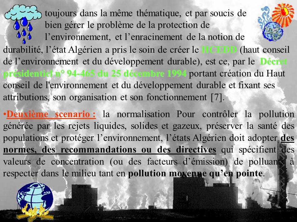 toujours dans la même thématique, et par soucis de bien gérer le problème de la protection de l'environnement, et l'enracinement de la notion de