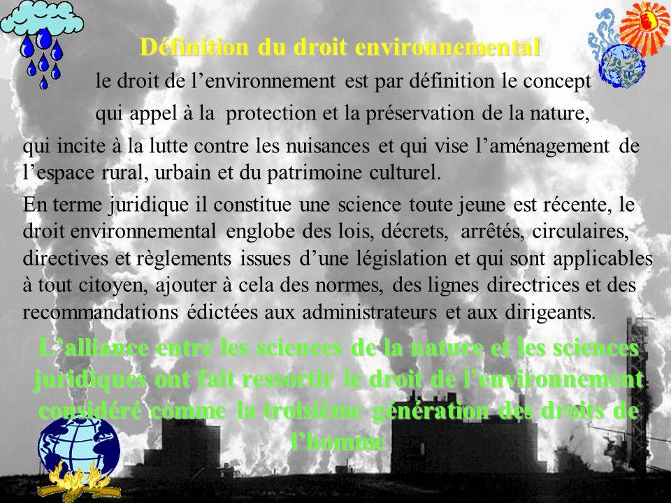 Définition du droit environnemental