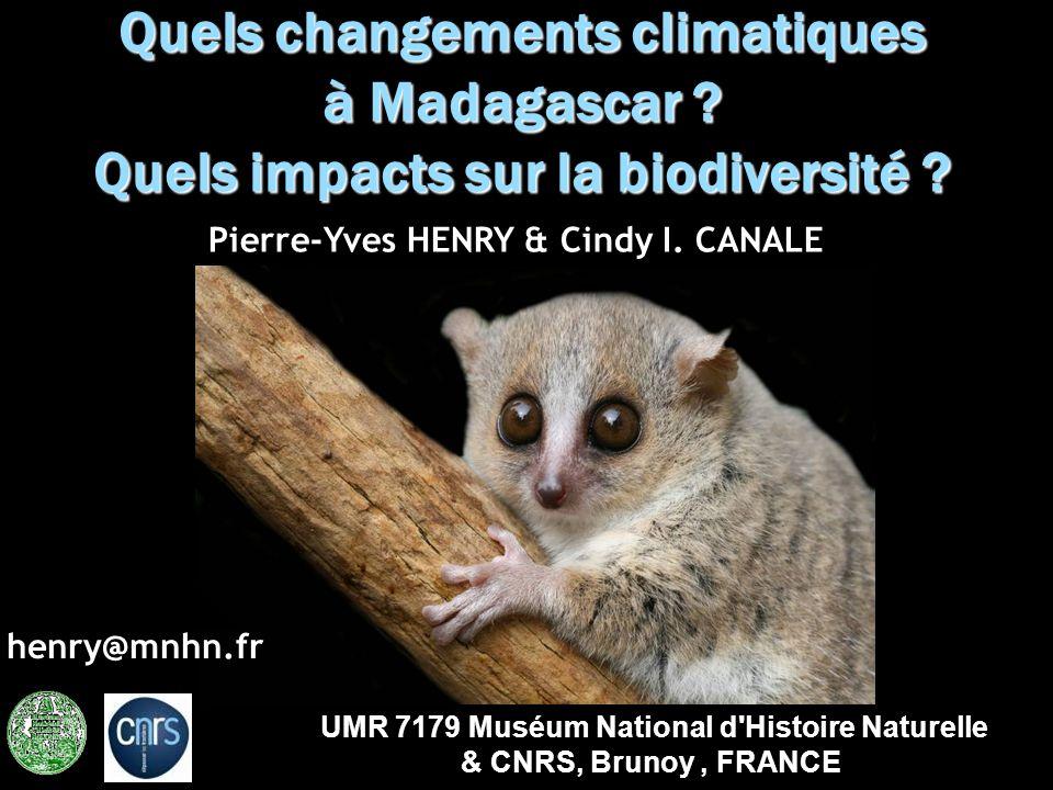 Quels changements climatiques à Madagascar