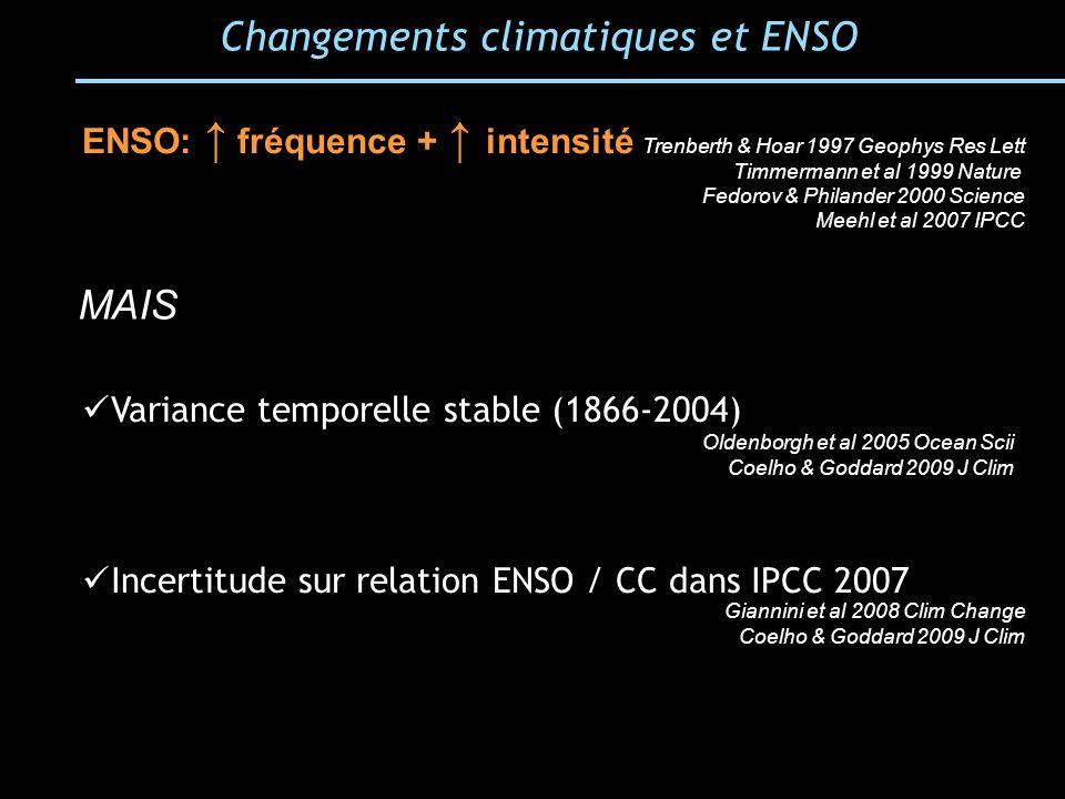 Changements climatiques et ENSO