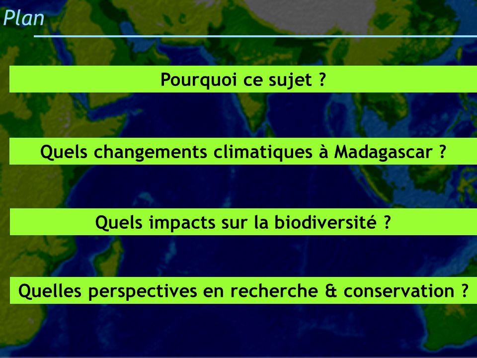 Plan Pourquoi ce sujet Quels changements climatiques à Madagascar