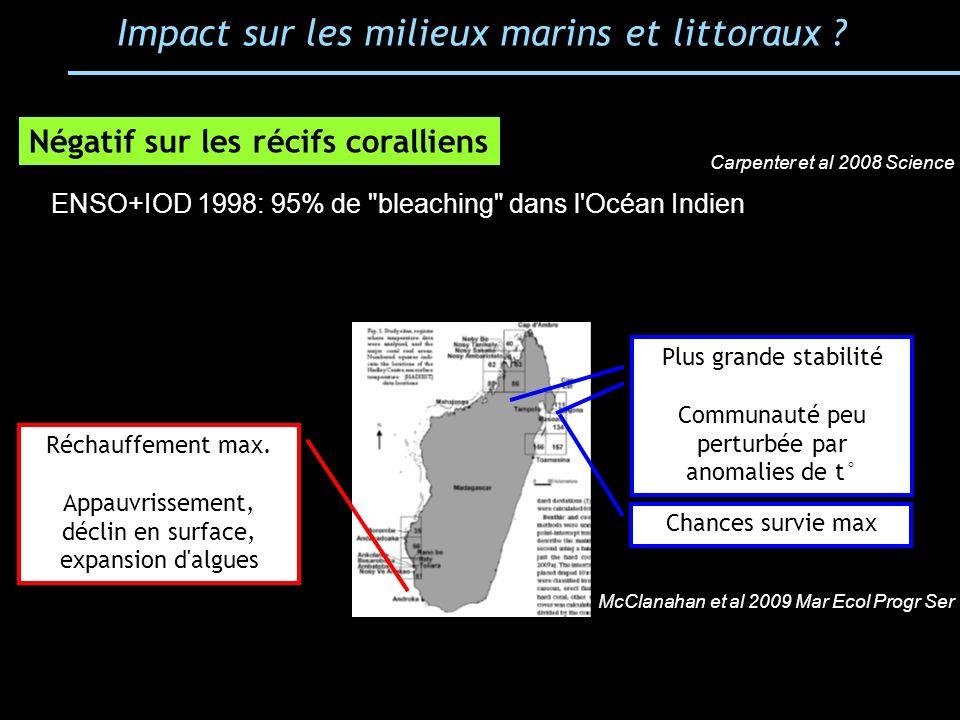 Impact sur les milieux marins et littoraux