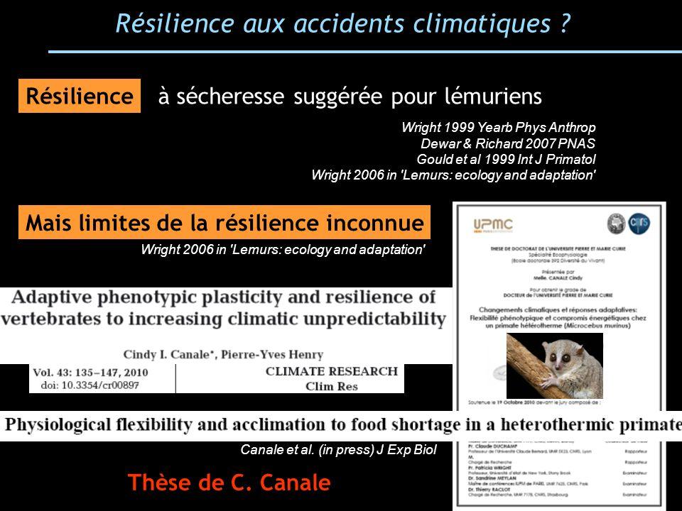 Résilience aux accidents climatiques