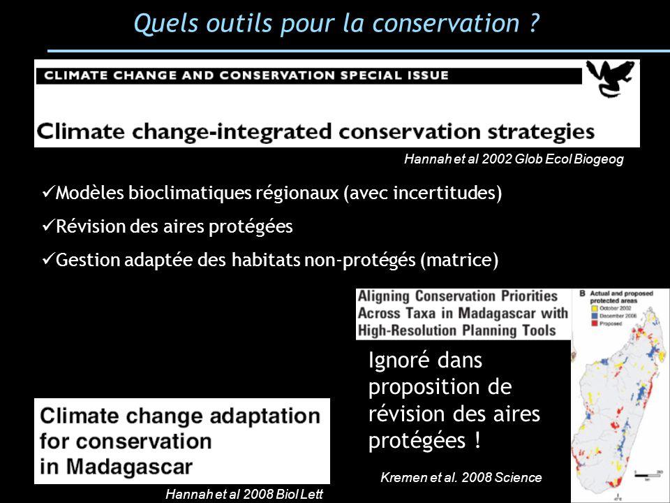 Quels outils pour la conservation