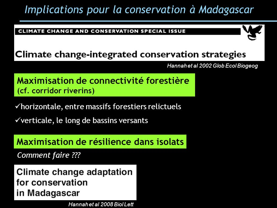 Implications pour la conservation à Madagascar