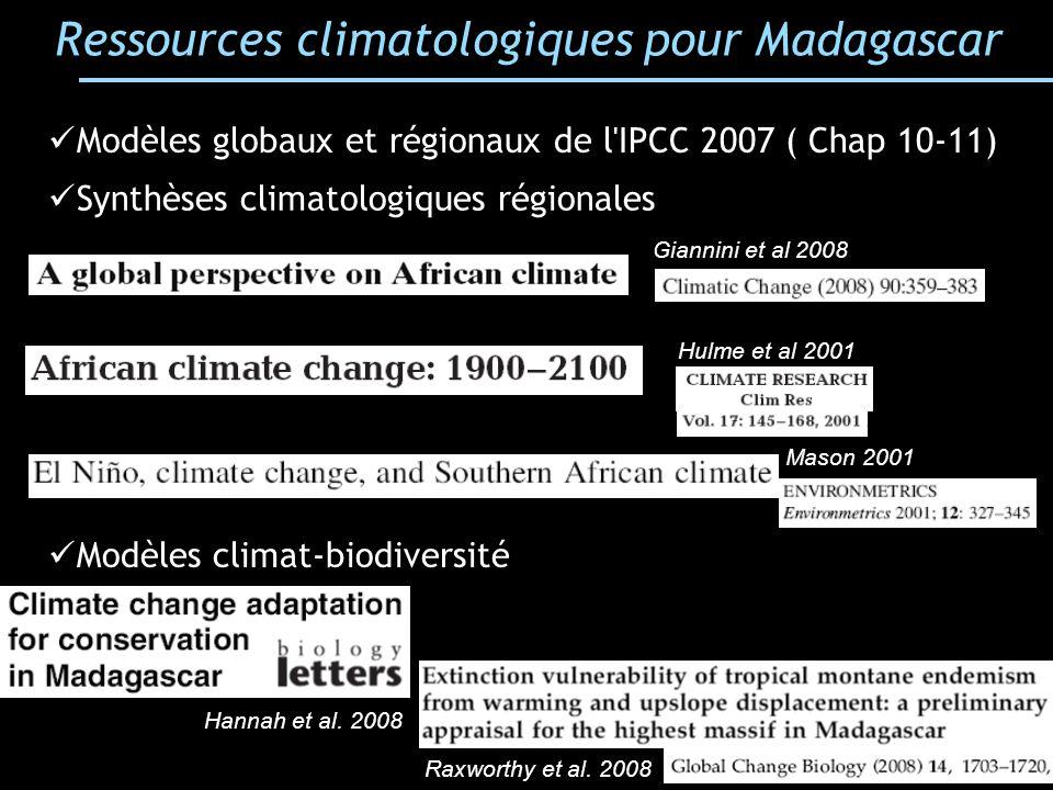 Ressources climatologiques pour Madagascar