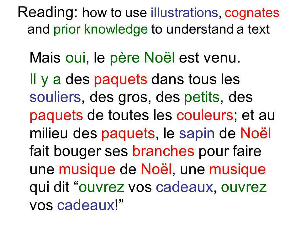 Reading: how to use illustrations, cognates and prior knowledge to understand a text