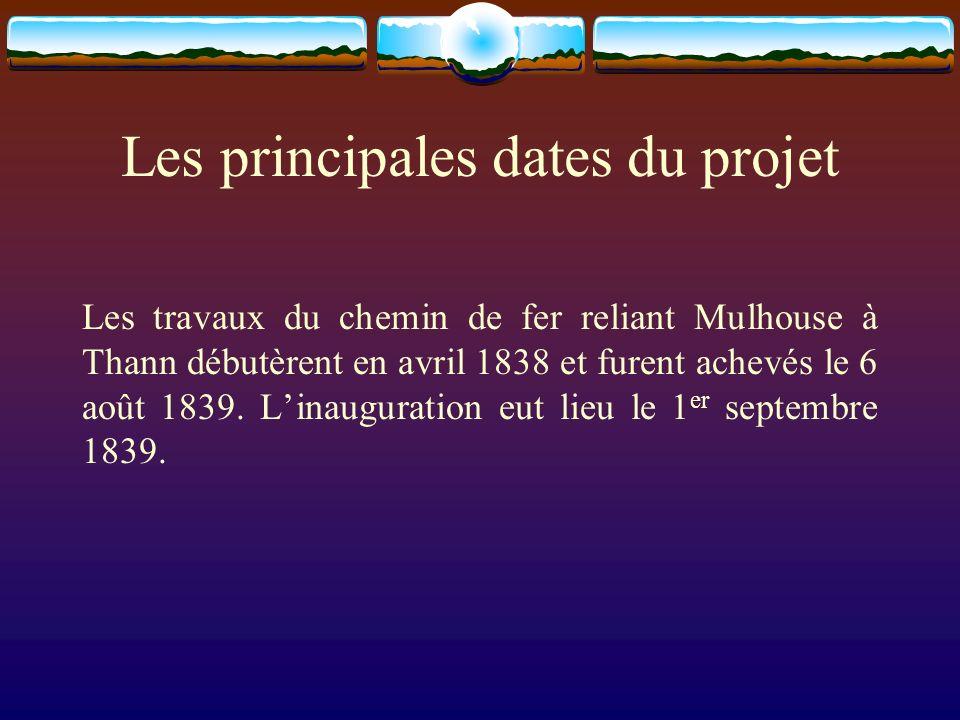 Les principales dates du projet