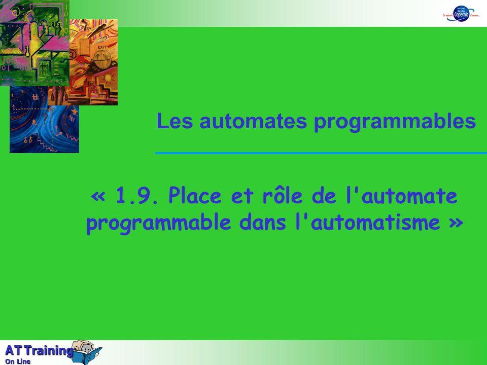« 1.9. Place et rôle de l automate programmable dans l automatisme »
