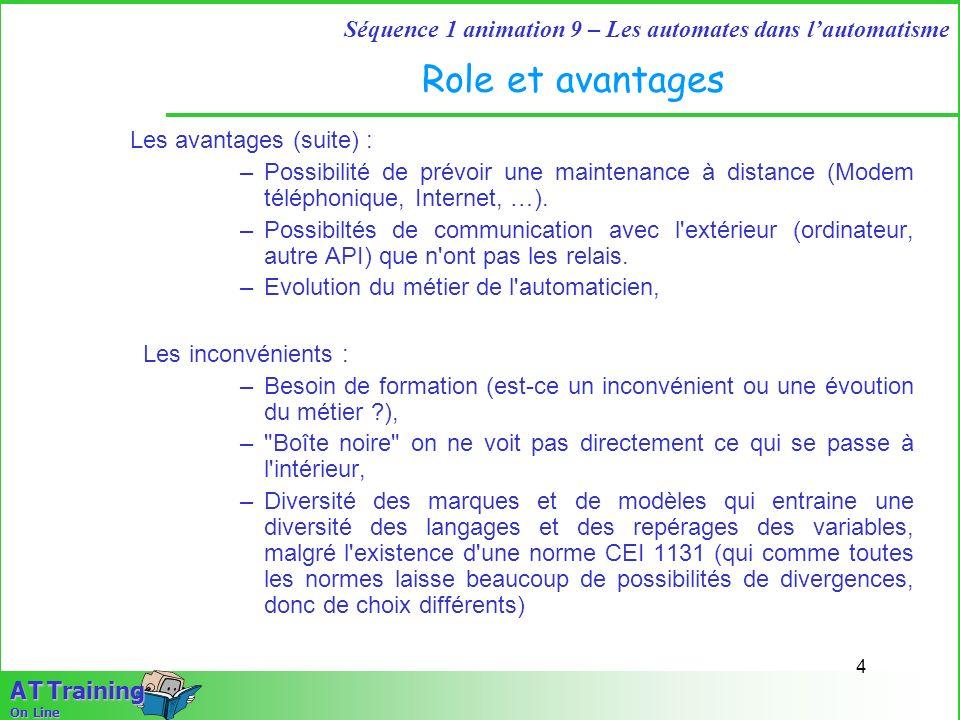 Role et avantages Les avantages (suite) :