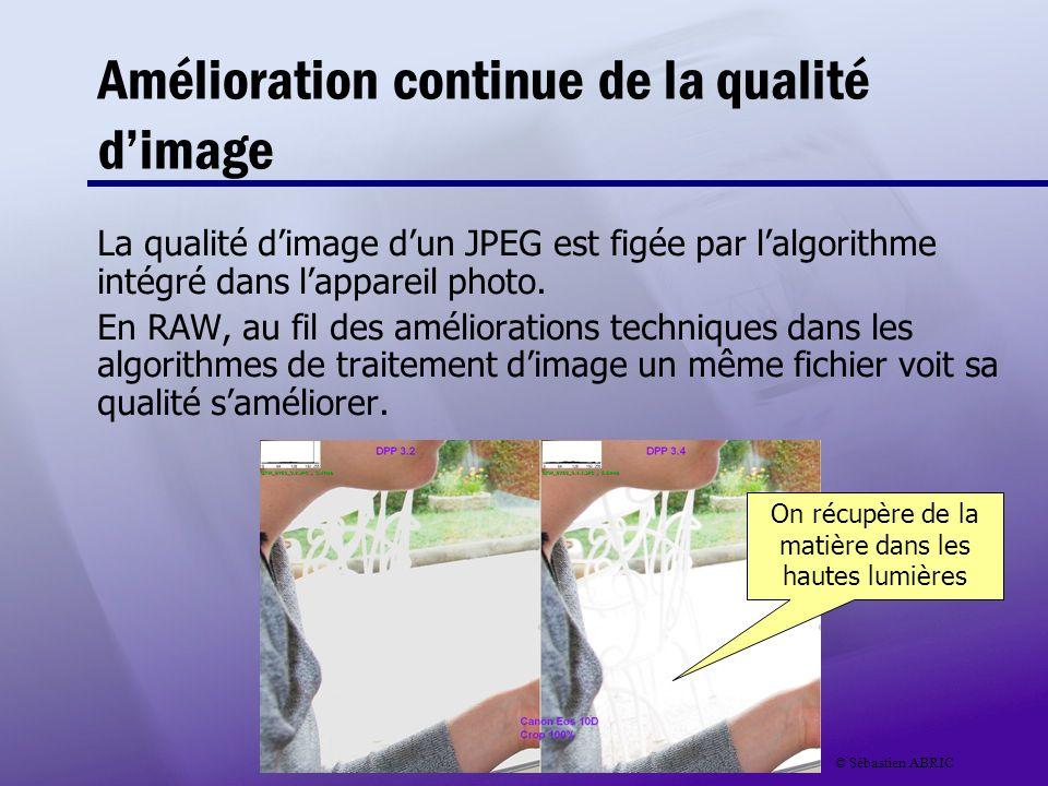 Amélioration continue de la qualité d'image