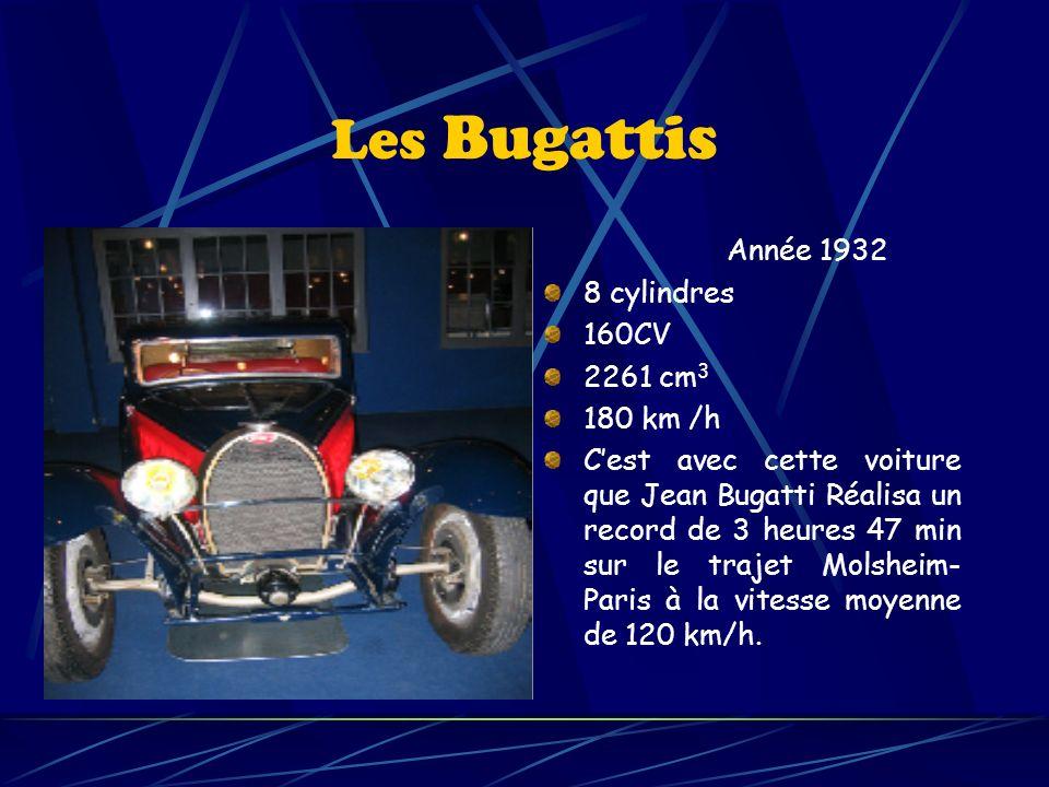 Les Bugattis Année 1932 8 cylindres 160CV 2261 cm3 180 km /h