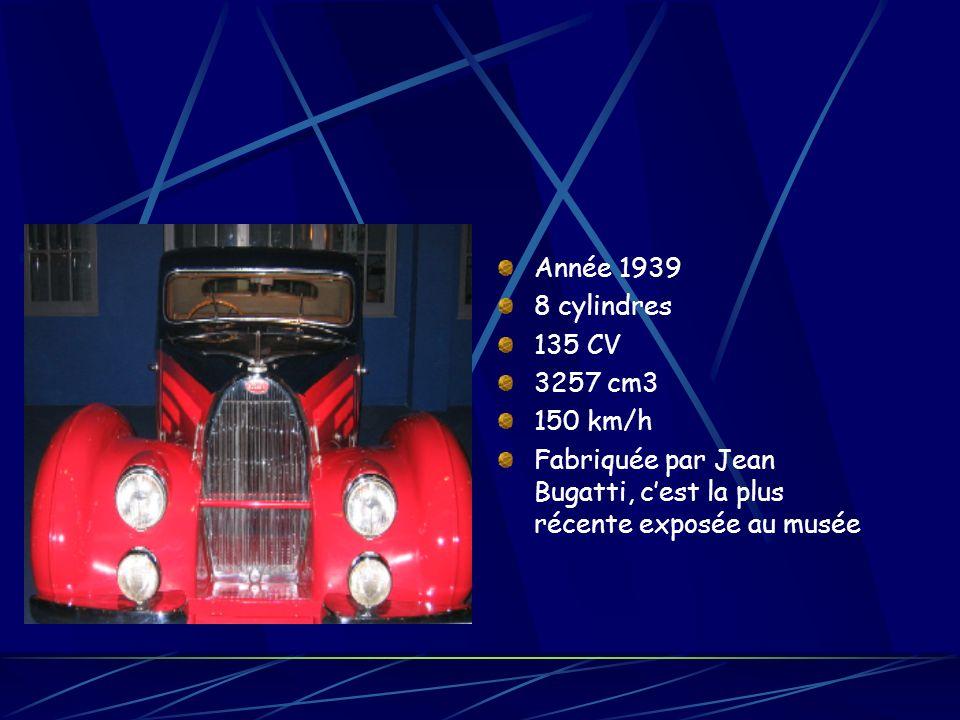 Année 1939 8 cylindres. 135 CV. 3257 cm3. 150 km/h.