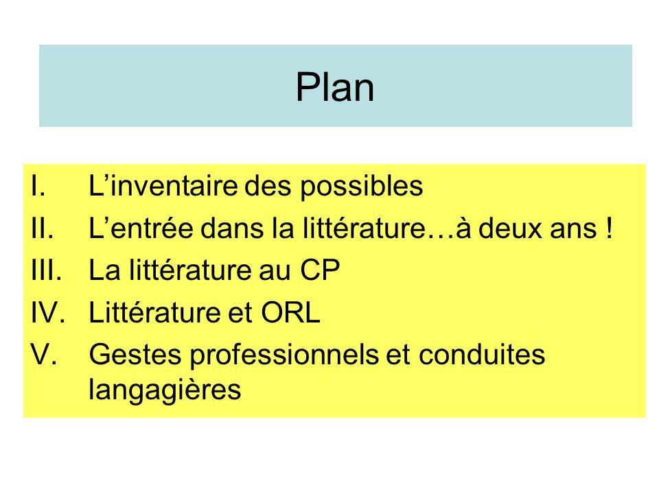 Plan L'inventaire des possibles