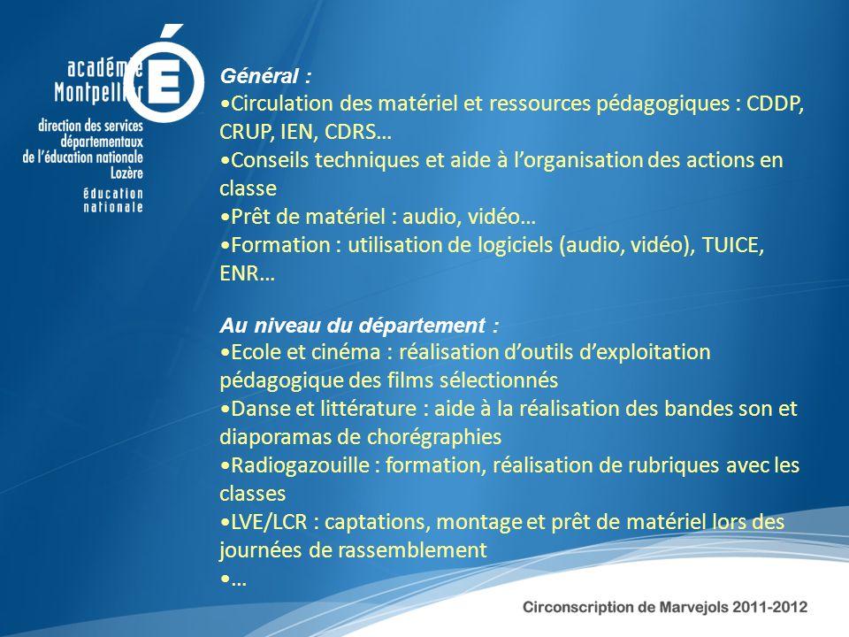 Conseils techniques et aide à l'organisation des actions en classe