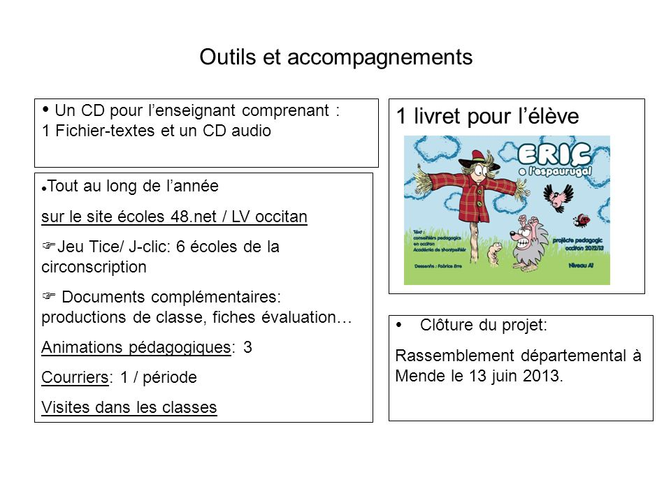 Outils et accompagnements