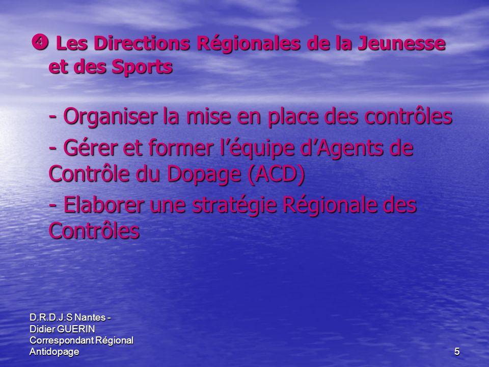  Les Directions Régionales de la Jeunesse et des Sports