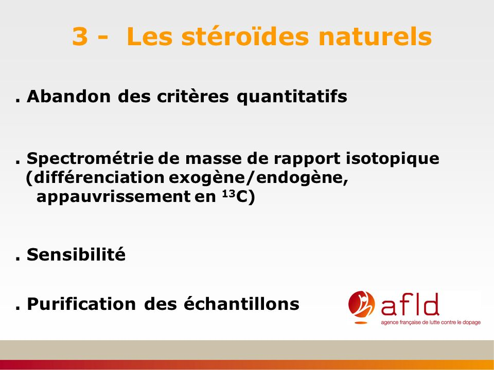 3 - Les stéroïdes naturels