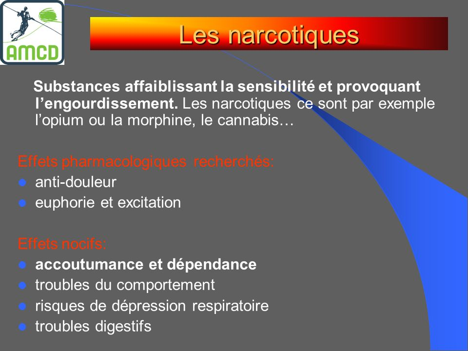 Les narcotiques