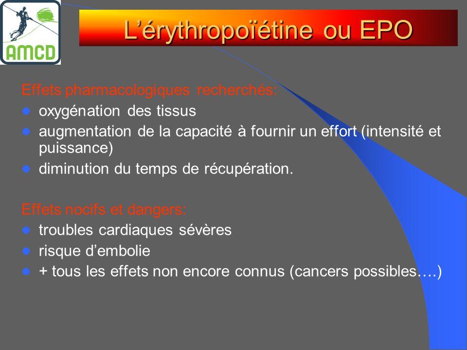 L'érythropoïétine ou EPO