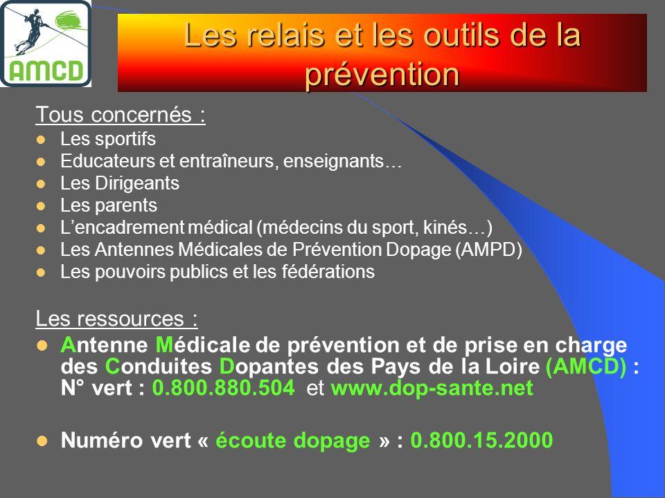 Les relais et les outils de la prévention