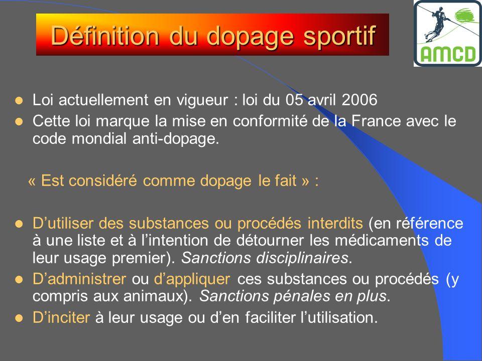 Définition du dopage sportif
