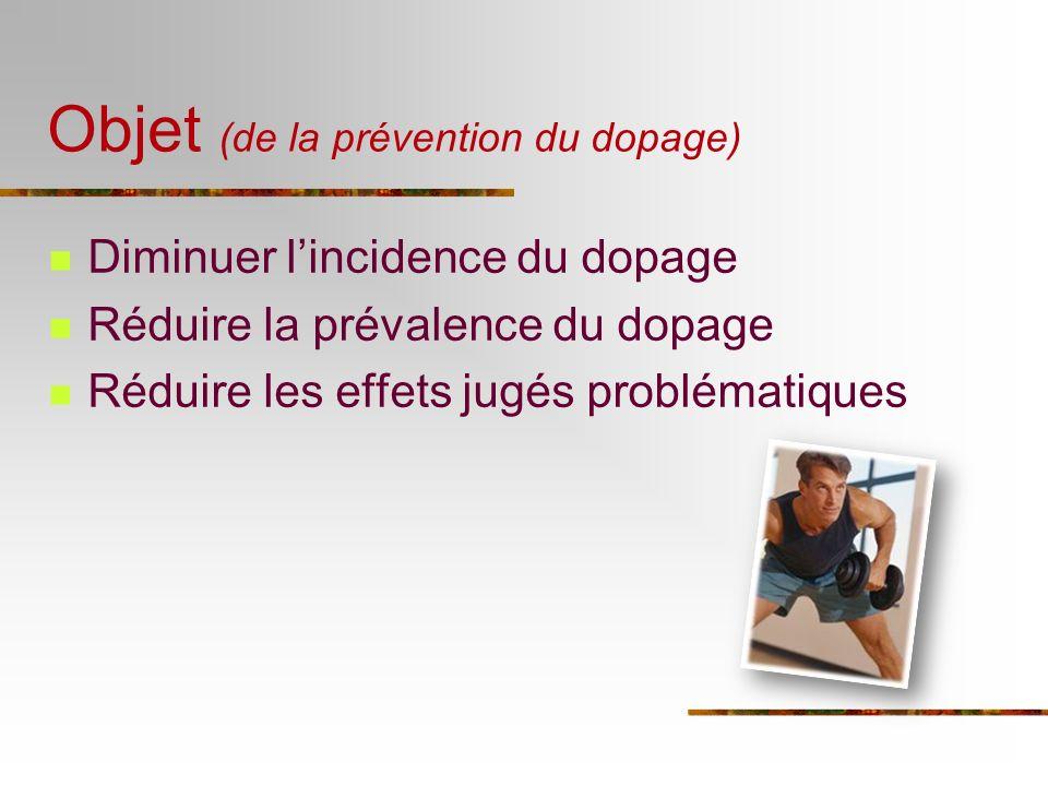 Objet (de la prévention du dopage)