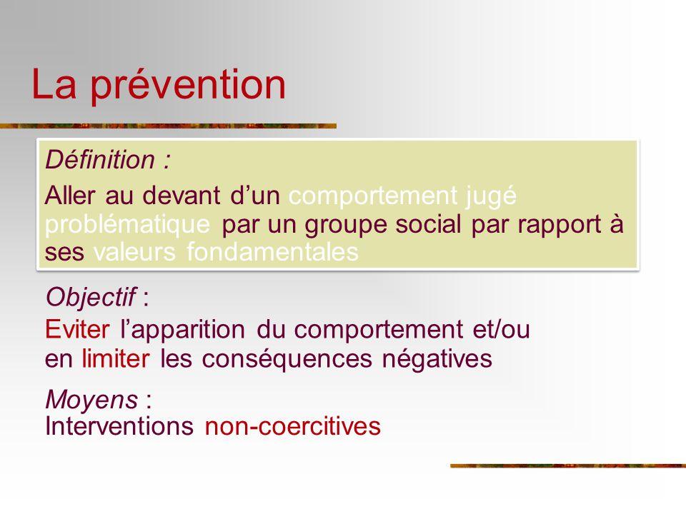La prévention Définition :