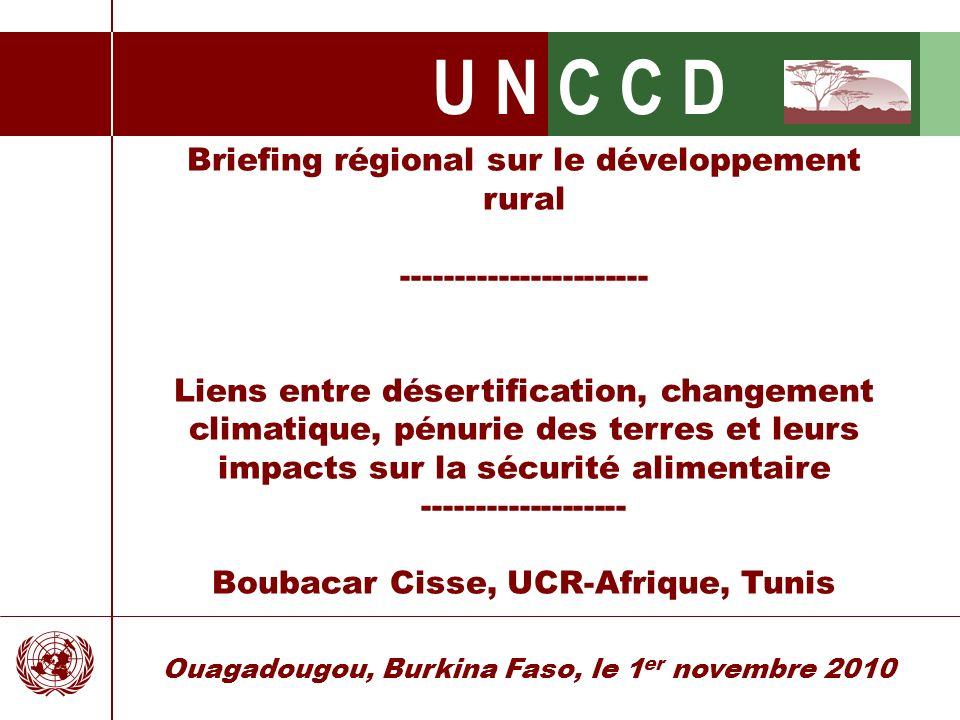 Briefing régional sur le développement rural