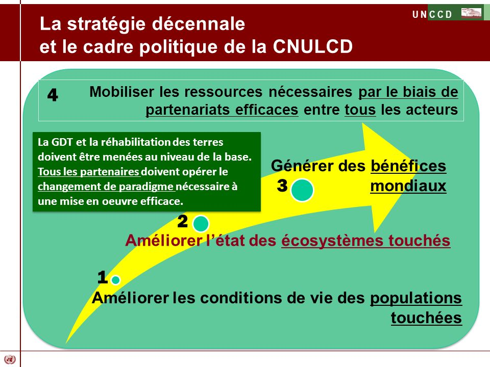 La stratégie décennale et le cadre politique de la CNULCD