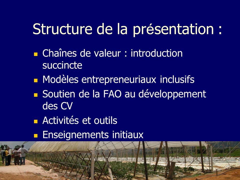 Structure de la présentation :
