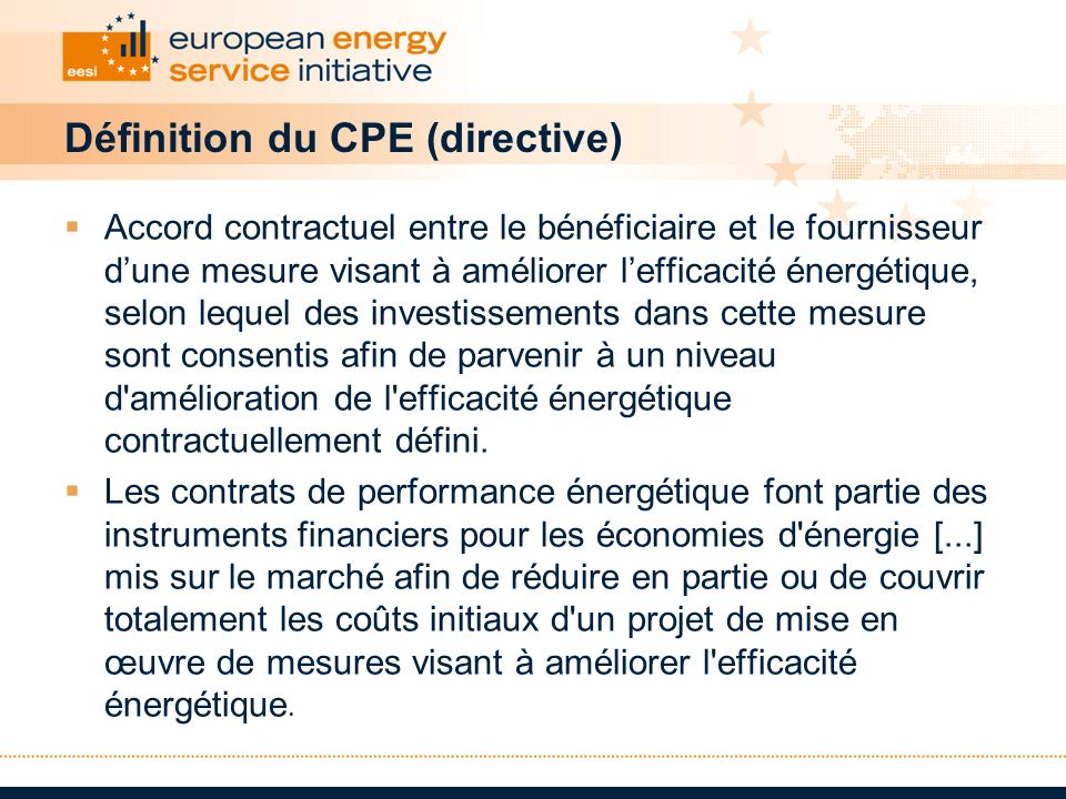 Définition du CPE (directive)