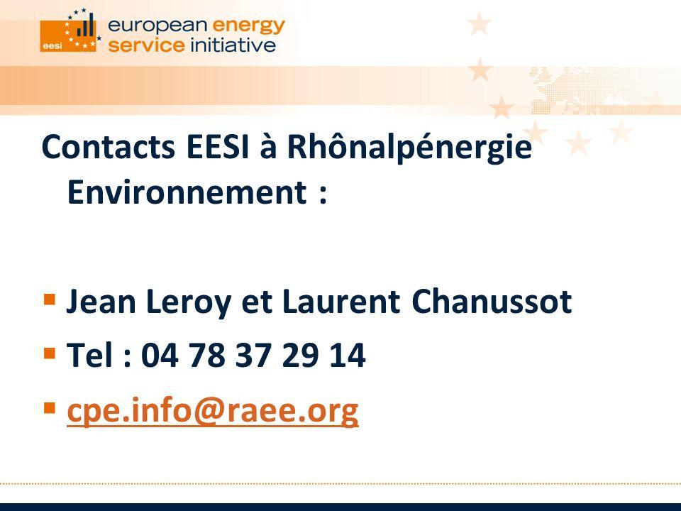Contacts EESI à Rhônalpénergie Environnement :