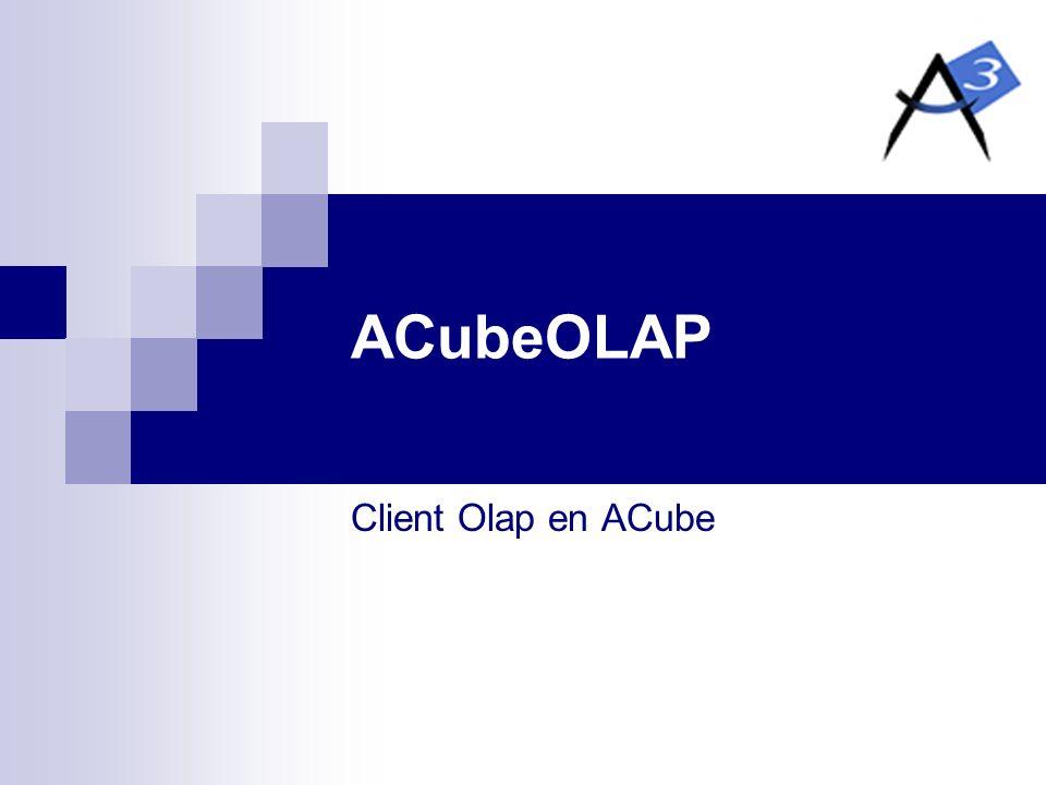 ACubeOLAP Client Olap en ACube