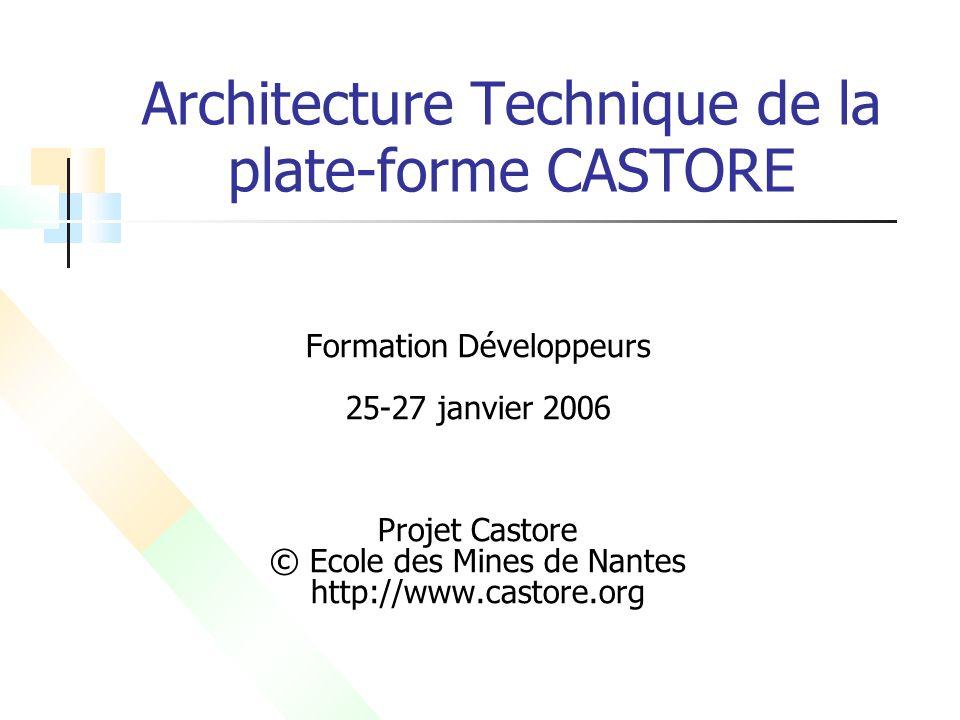 Architecture Technique de la plate-forme CASTORE