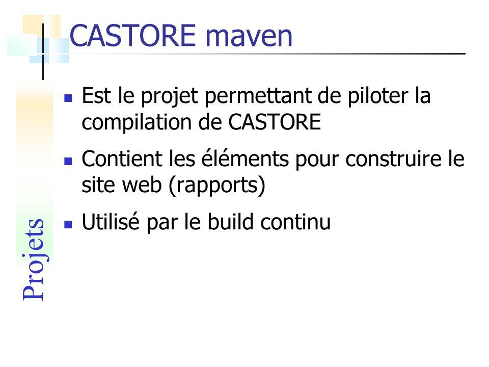 CASTORE mavenEst le projet permettant de piloter la compilation de CASTORE. Contient les éléments pour construire le site web (rapports)