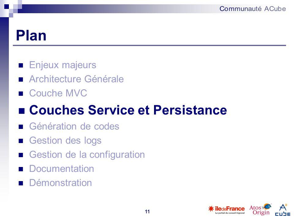 Plan Couches Service et Persistance Enjeux majeurs
