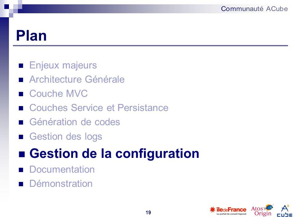 Plan Gestion de la configuration Enjeux majeurs Architecture Générale