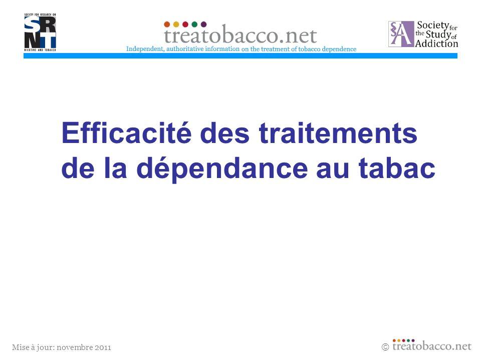 Efficacité des traitements de la dépendance au tabac