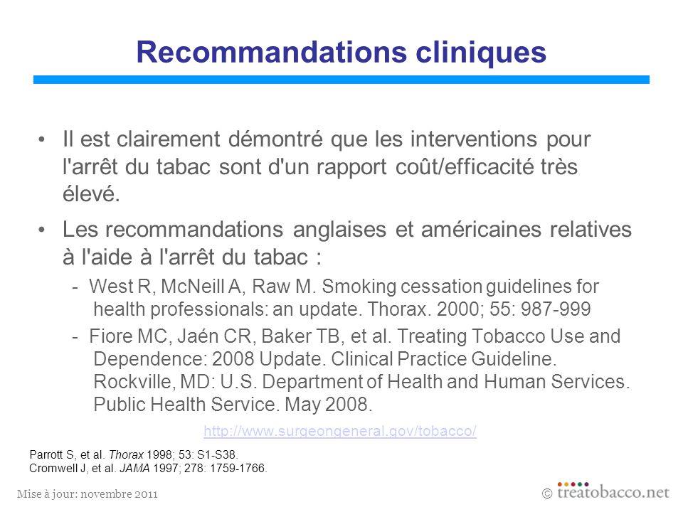 Recommandations cliniques