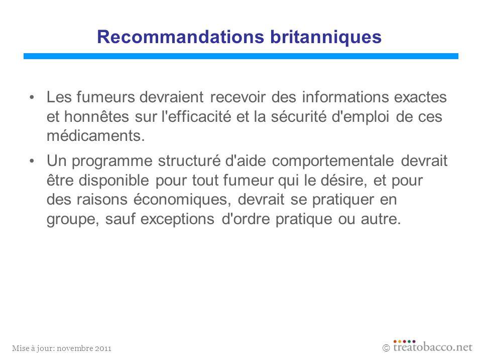 Recommandations britanniques