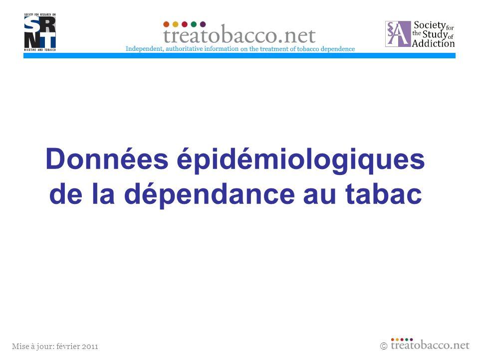 Données épidémiologiques de la dépendance au tabac