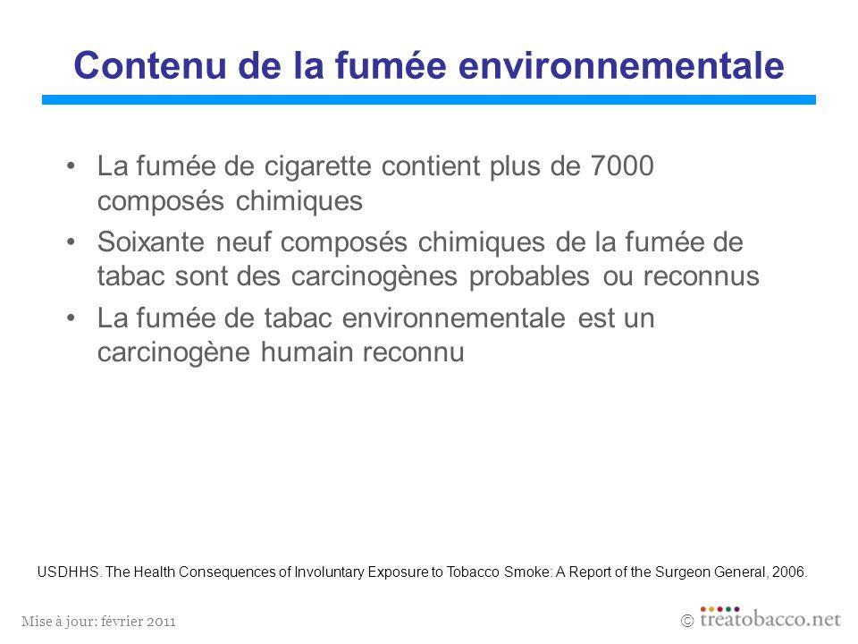 Contenu de la fumée environnementale