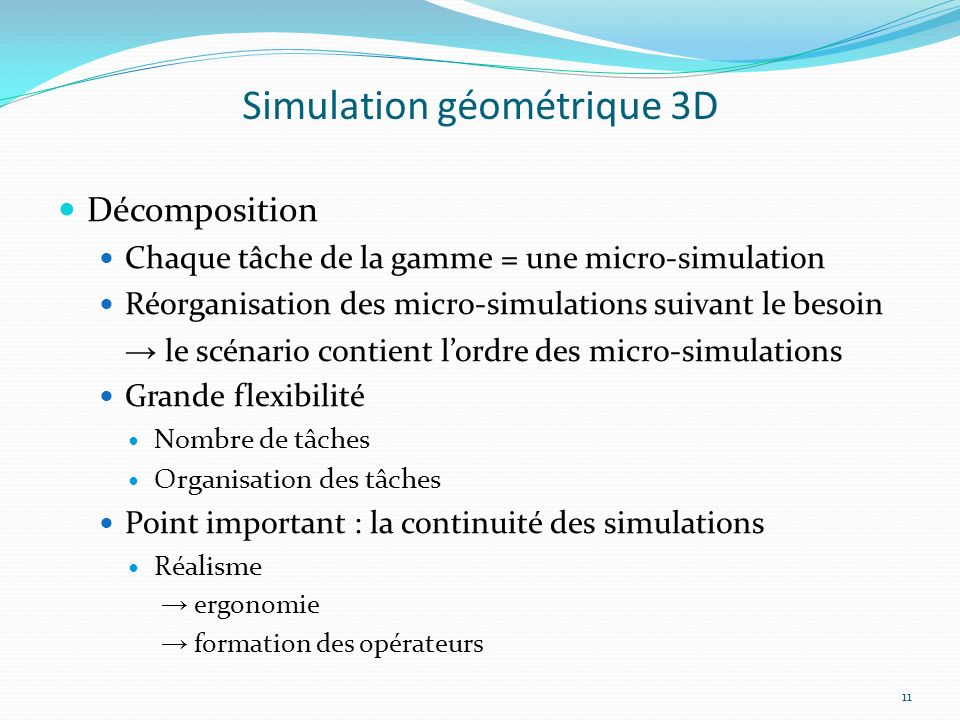 Simulation géométrique 3D