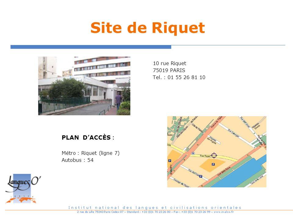 Site de Riquet PLAN D'ACCÈS :