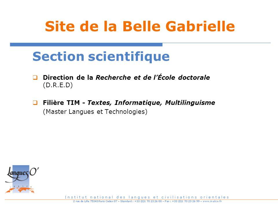 Site de la Belle Gabrielle