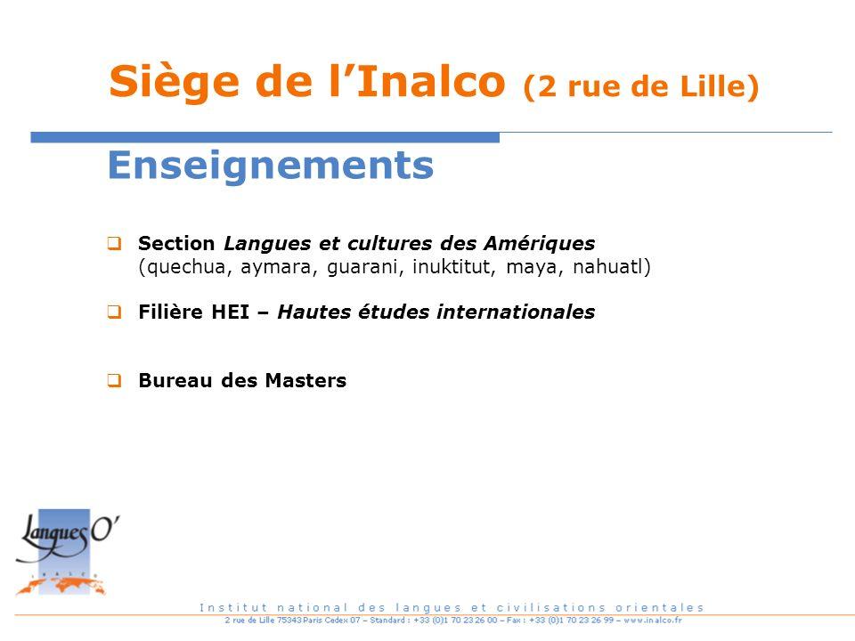 Siège de l'Inalco (2 rue de Lille)