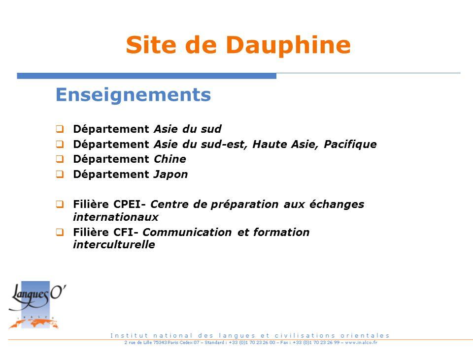 Site de Dauphine Enseignements Département Asie du sud